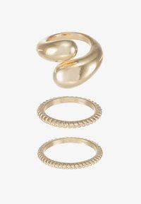 Pieces - PCTELLEN SET 3 PACK - Ring - gold-coloured - 3