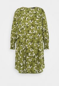 New Look Curves - AMELIE FLORAL SMOCK - Day dress - green - 5