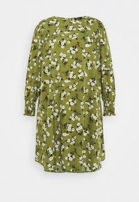 New Look Curves - AMELIE FLORAL SMOCK - Denní šaty - green - 5