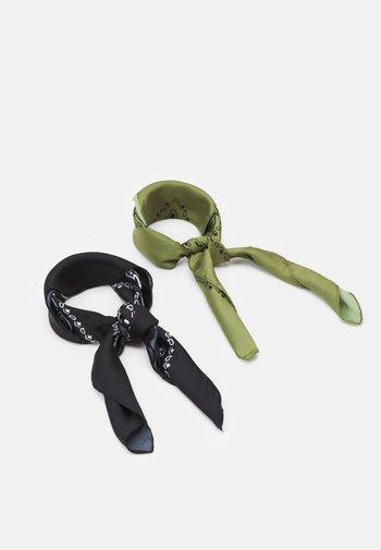 BANDANA UNISEX 2 PACK - Foulard - black/olive