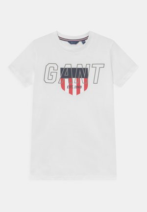 SPORTY SHIELD - T-shirt con stampa - white