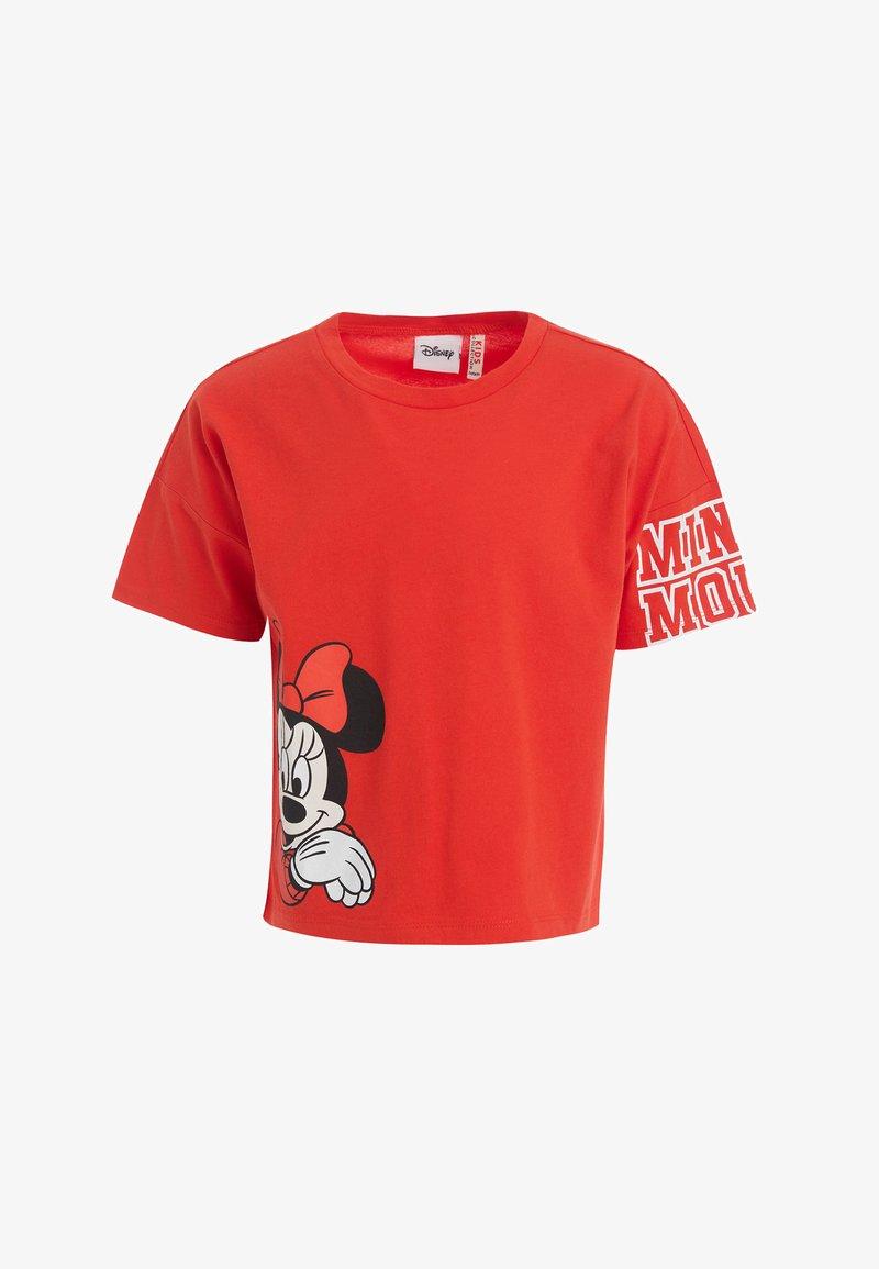 DeFacto - Print T-shirt - red