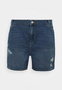 Noisy May Curve - NMLOTTIE SKATE  - Shorts di jeans - medium blue - 5