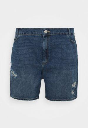 NMLOTTIE SKATE  - Denim shorts - medium blue
