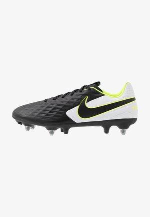 TIEMPO LEGEND 8 ACADEMY SG-PRO AC - Screw-in stud football boots - black/white/volt