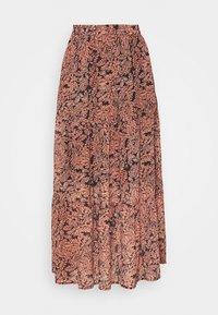 Kaffe - KAFINOLIA SKIRT - A-line skirt - black/coral - 0