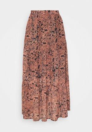 KAFINOLIA SKIRT - A-line skirt - black/coral
