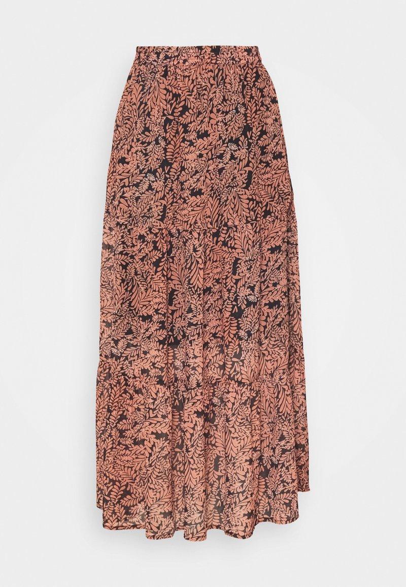 Kaffe - KAFINOLIA SKIRT - A-line skirt - black/coral