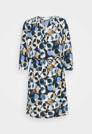 Day dress - dark blue/taupe