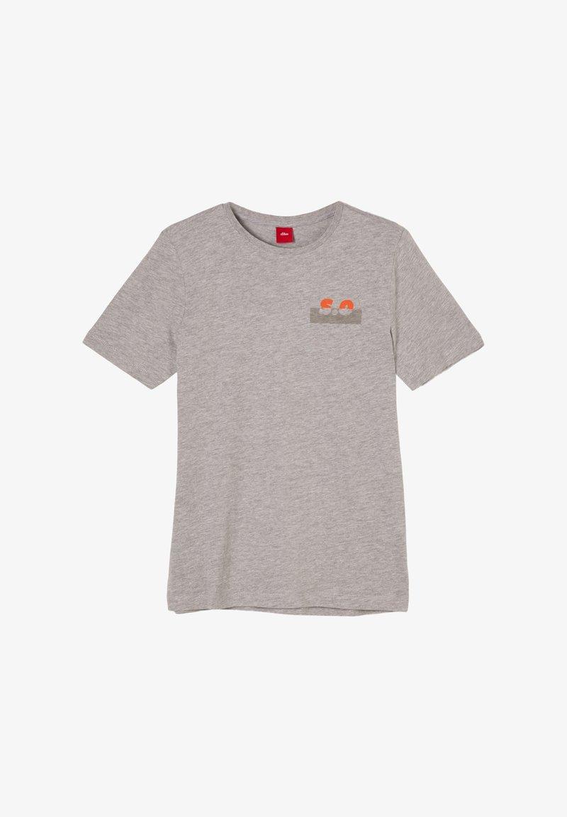 s.Oliver - Print T-shirt - grey melange
