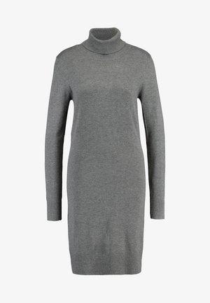MILASZ ROLLNECK DRESS - Abito in maglia - grey