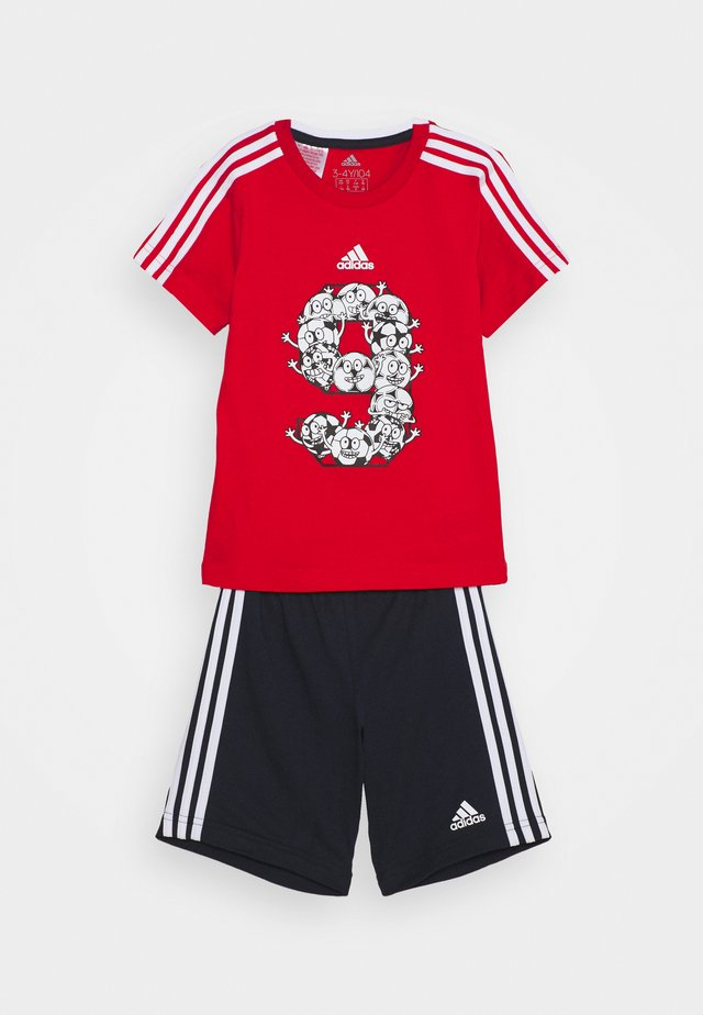 SET - Pantaloncini sportivi - red/white