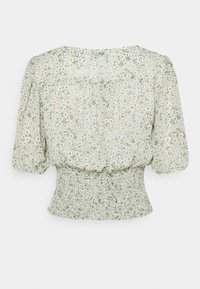 ONLY - ONLMILLE MINI MARI FLOWER SMOCK  - Bluser - chinois green - 1