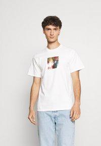 HUF - FLOWER BOX LOGO TEE - T-shirt imprimé - white - 0