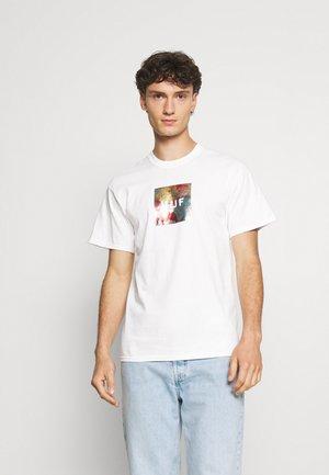 FLOWER BOX LOGO TEE - T-shirt imprimé - white