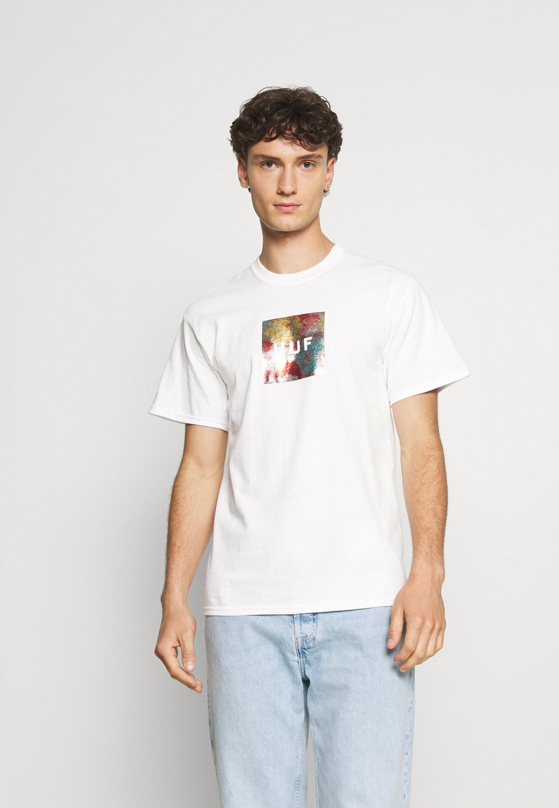 HUF - FLOWER BOX LOGO TEE - T-shirt imprimé - white