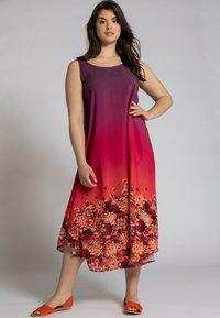 Ulla Popken - Jersey dress - rouge vin foncé - 0