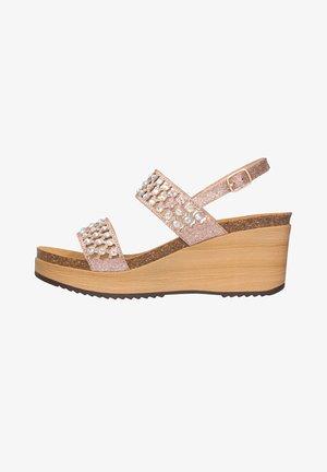 MIT KEILABSATZ CASSIOPEA - Sandalen met sleehak - oro rosa