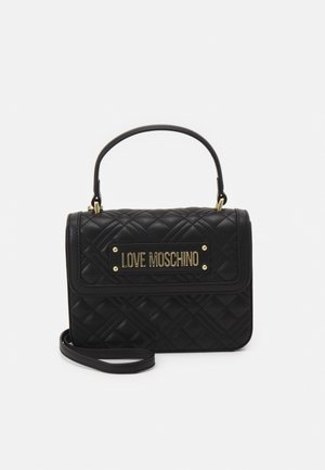 TOP HANDLE QUILTED CROSS BODY - Bolso de mano - nero