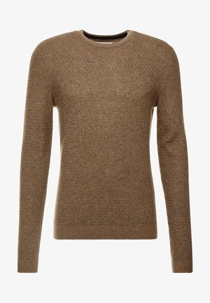 Maglione - mottled light brown