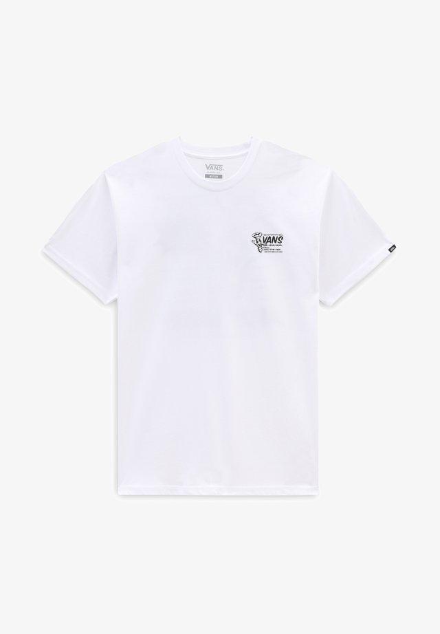 MN VANS HARDWEAR SS - T-shirt print - white
