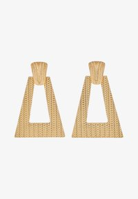 LIARS & LOVERS - TEXURED GEO DROP - Earrings - gold-coloured - 3
