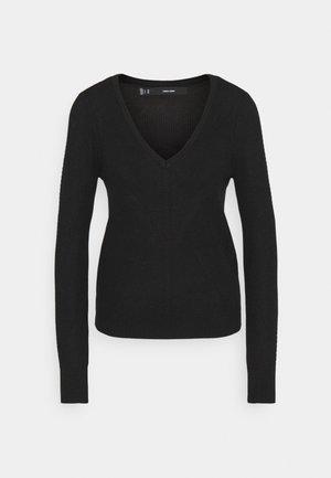 VMNEWLEXSUN VNECK - Stickad tröja - black