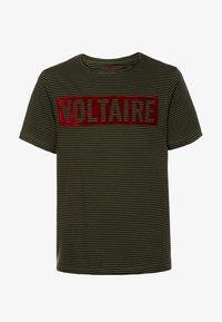 Zadig & Voltaire - SHORT SLEEVES - Print T-shirt - khakiblack - 0