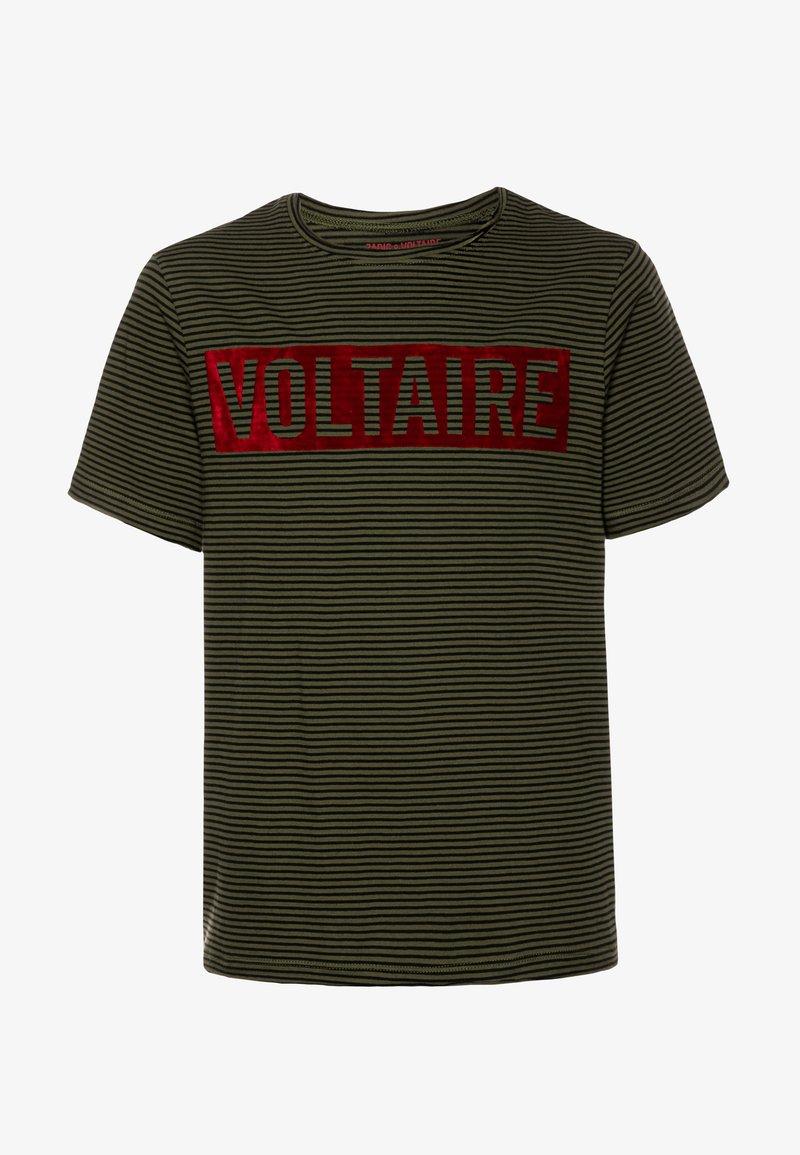Zadig & Voltaire - SHORT SLEEVES - Print T-shirt - khakiblack
