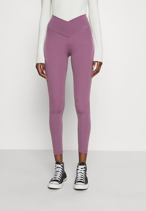 REAL ME CROSSOVER - Leggings - Trousers - washed plum