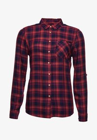 Superdry - Button-down blouse - navy rust check - 3
