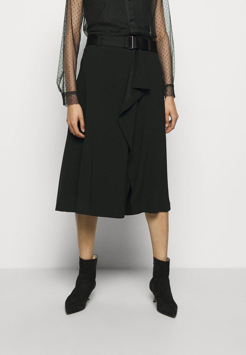 RIANI - Áčková sukně - black