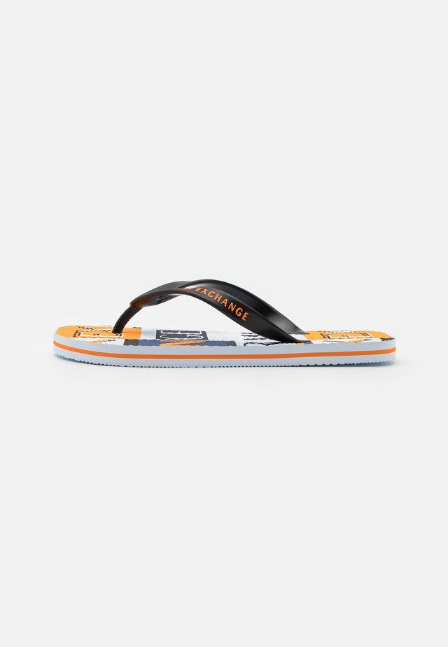 T-bar sandals - optic white/black/orange