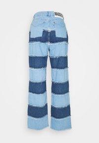 The Ragged Priest - STRIPE PANEL DAD  - Jeans straight leg - blue - 7