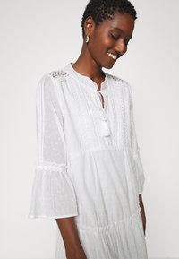 Esqualo - DRESS PLUMETIS - Shirt dress - off white - 5