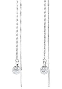 Elli - GLASS CRYSTAL - Earrings - silver-coloured - 2