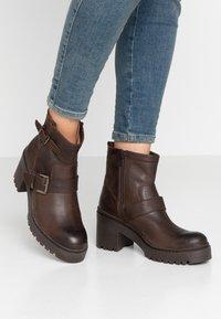 Unisa - JEZABEL - Cowboy/biker ankle boot - brown - 0