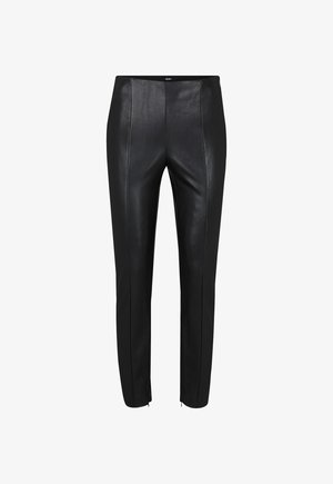 SARA - Leather trousers - black