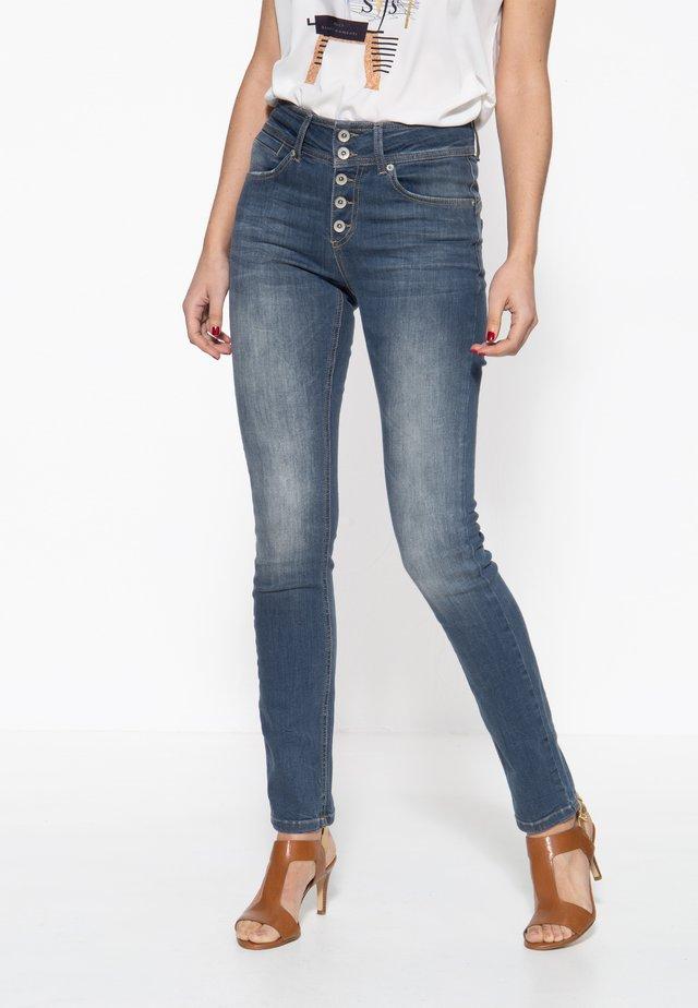 MIT ZWEI KNÖP - Slim fit jeans - graublau