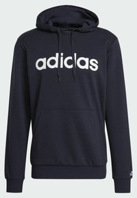 adidas Performance - ESSENTIALS FRENCH TERRY LINEAR LOGO HOODIE - Hoodie - blue - 7