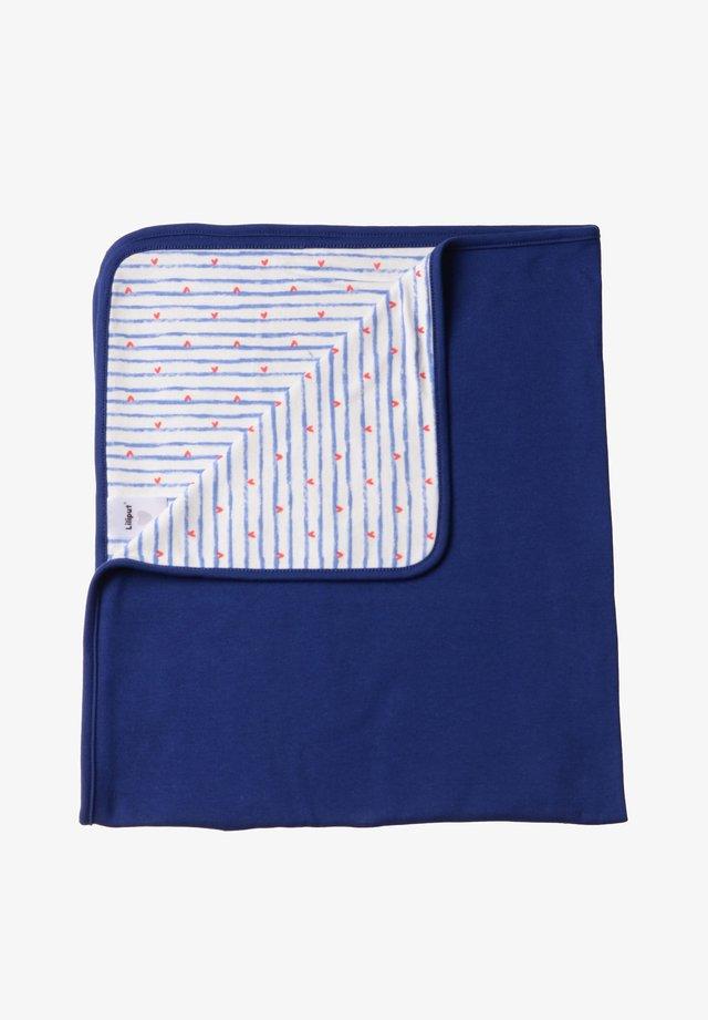 Baby blanket - blau,blau gestreift mit herzen
