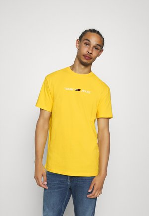 STRAIGHT LOGO TEE - Print T-shirt - star fruit yellow