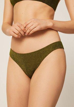 BRAZILIAN MIT GLITZER - Bikini bottoms - khaki