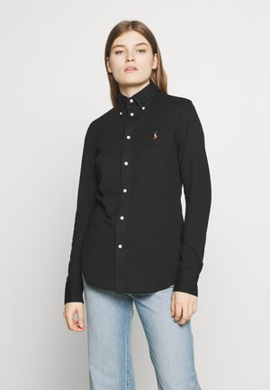 HEIDI LONG SLEEVE - Button-down blouse - black