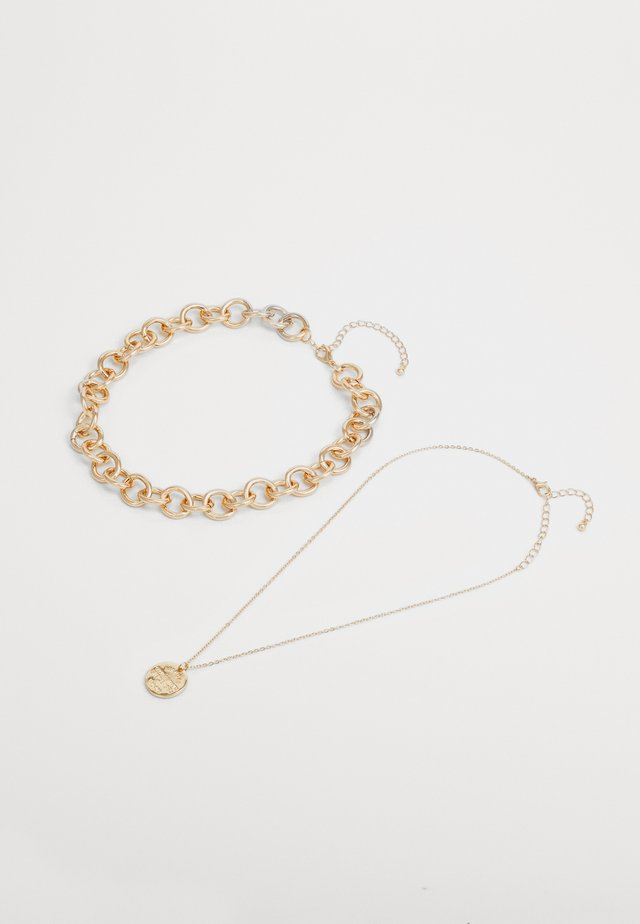 PCDIANO COMBI NECKLACE 2 PACK - Collana - gold-coloured