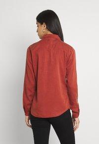 Vila - Button-down blouse - burnt henna - 2