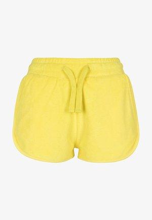 LADIES TOWEL HOT PANTS - Teplákové kalhoty - brightyellow