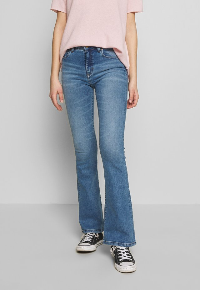 RAVAL - Flared Jeans - stone