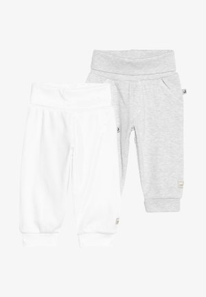 2 PACK - Pantalon classique - off white/grey