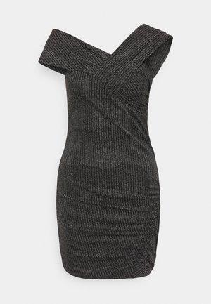 CLUB DRESS - Cocktail dress / Party dress - black/silver